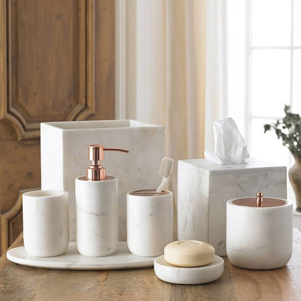 32 unique soap lotion dispensers for Marble bathroom bin