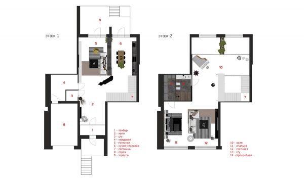Charming townhouse for a young couple - House plans for young couples energetic designs ...