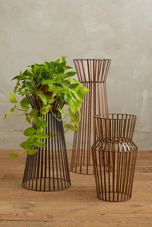 42 unique decorative plant stands for indoor outdoor use - Steel pot plant stands ...