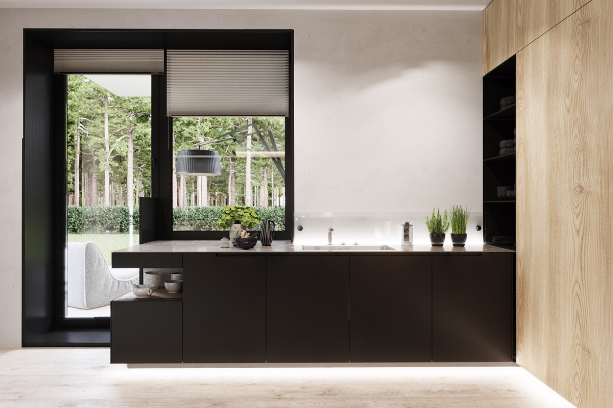 Black Cupboard Kitchen Patio - A summer ready home perfect for your dream vacation