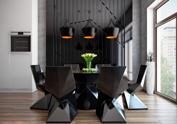 50 strikingly modern dining rooms that inspire you to for Room visualizer furniture