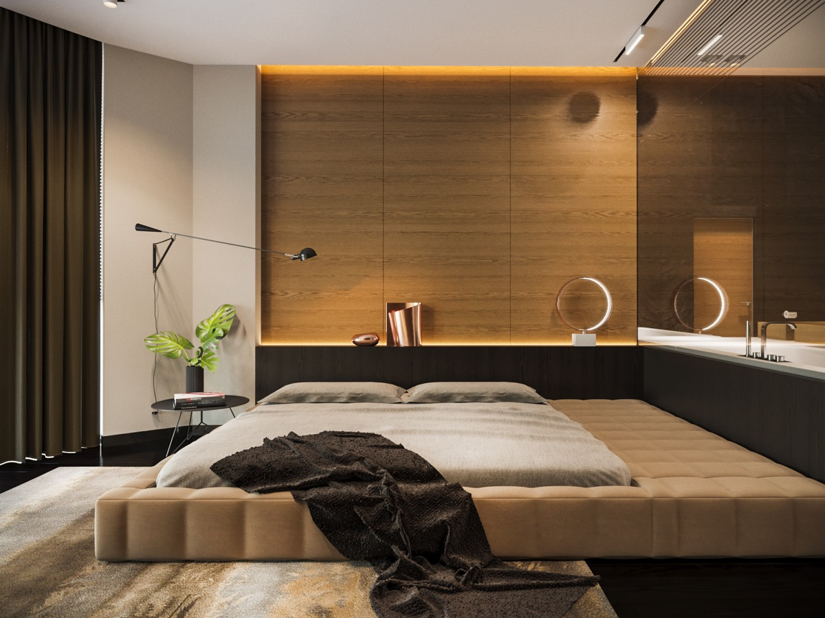 40 beautiful bedrooms that we are in awe of - Wood panel walls decorating ideas ...