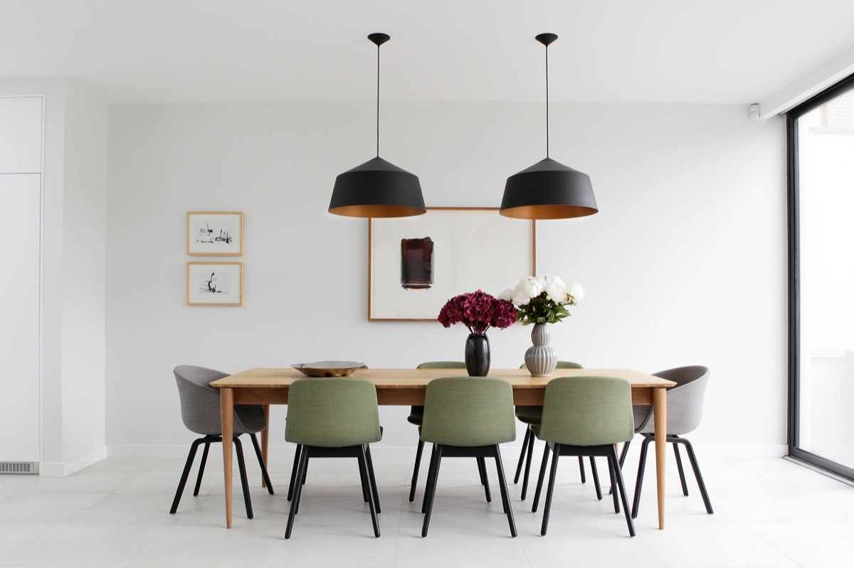 50 strikingly modern dining rooms that inspire you to for Olive green dining room ideas