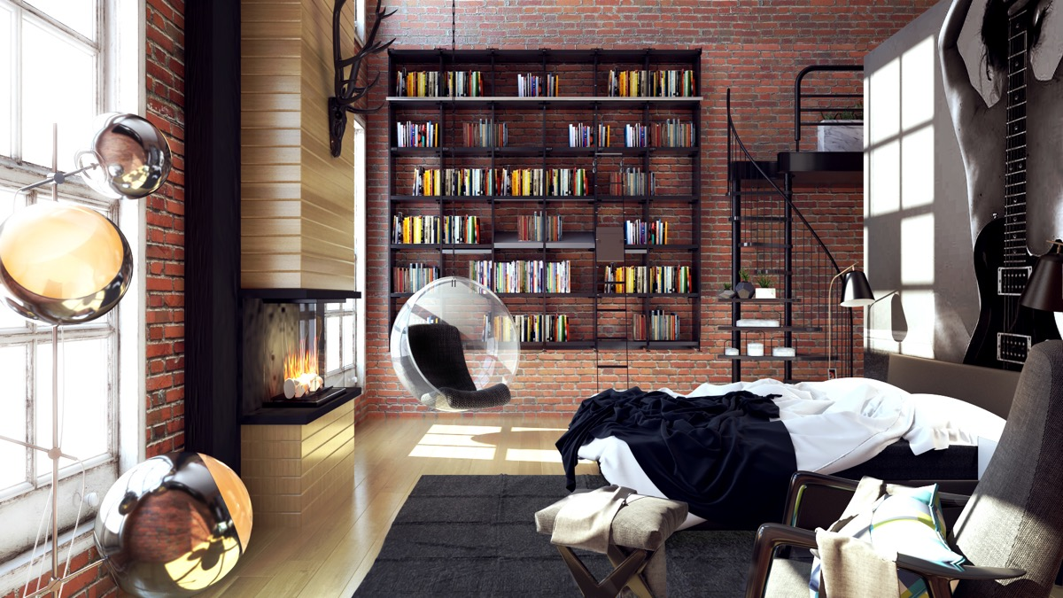 40 beautiful bedrooms that we are in awe of for Bedroom ideas for book lovers
