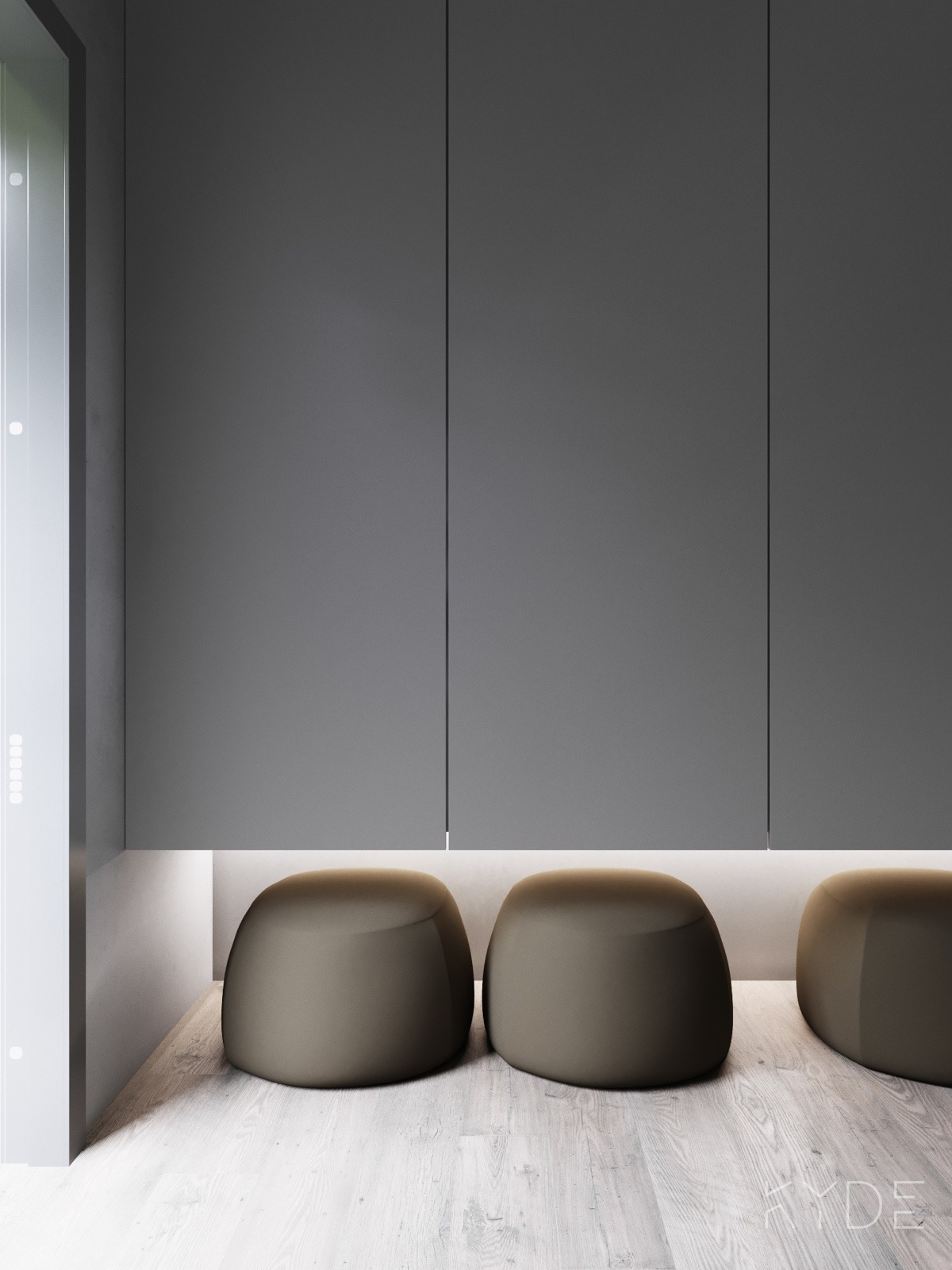Floor Cushions Under Grey Cupboard - A summer ready home perfect for your dream vacation