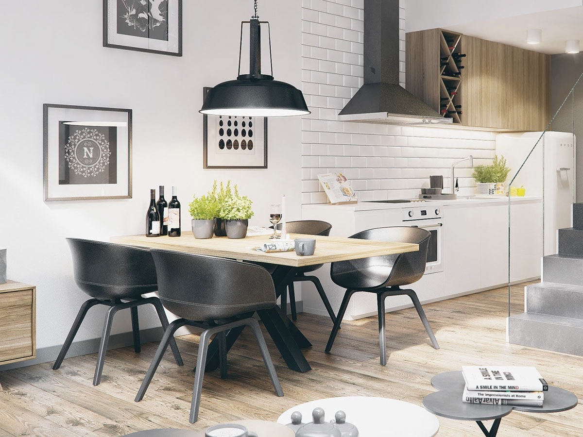 4. 30 Black   White Dining Rooms That Work Their Monochrome Magic