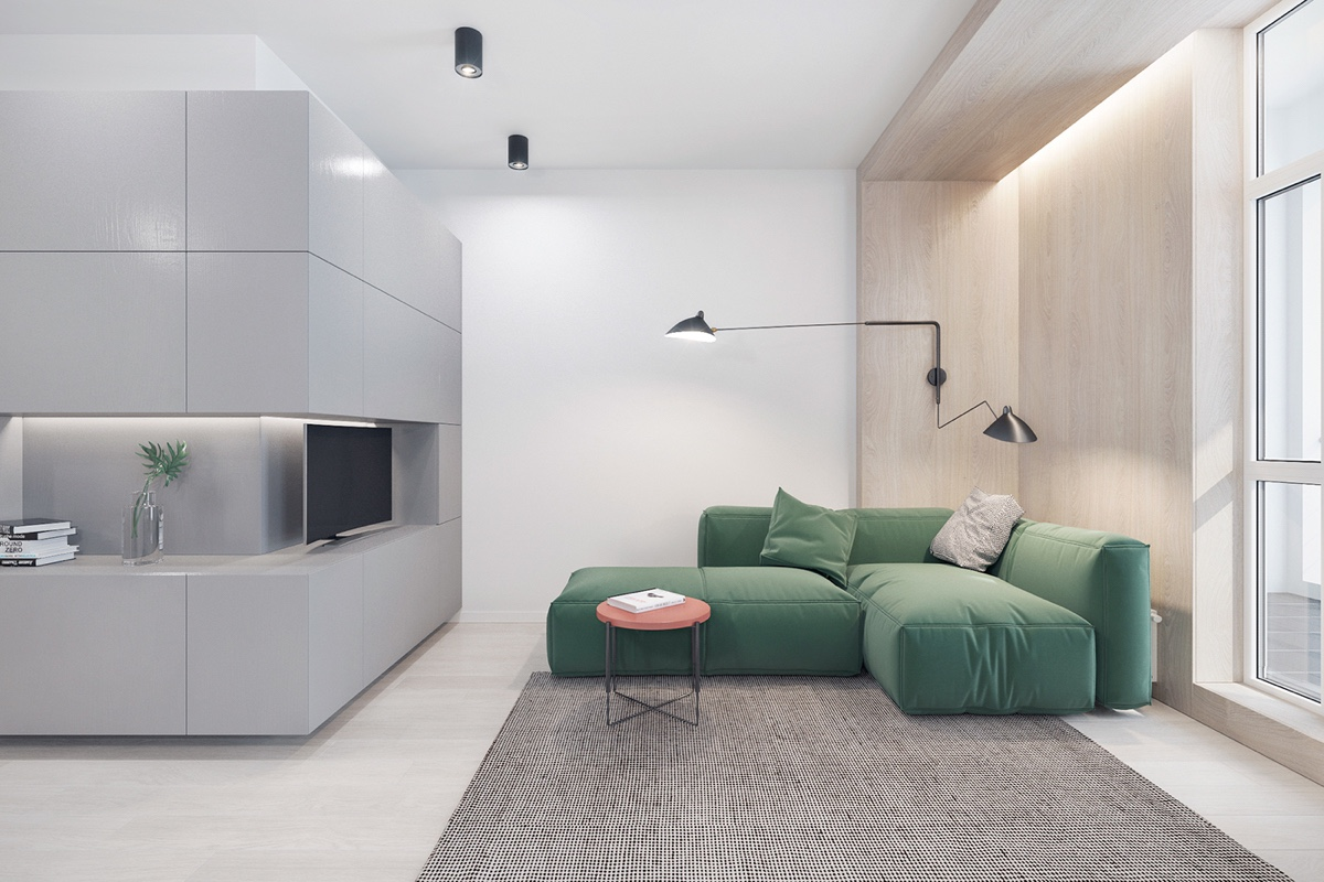 3 fabulously sleek studio apartments that are timeless for Minimalist decor pinterest