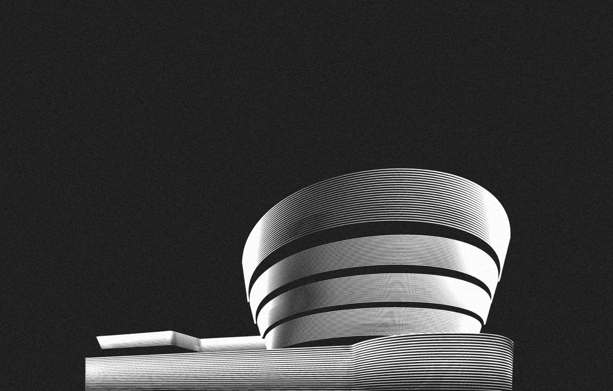 Guggenheim New York City In Black And White - Spectacular black white illustrations of iconic architectural landmarks by designer andrea minini