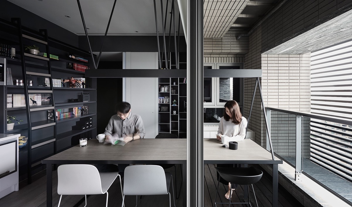 Half Office Half Dining Room Monochrome Eating Space - 30 black white dining rooms that work their monochrome magic
