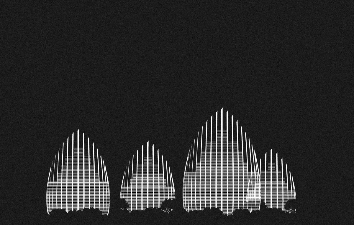 Jean Marie Tijibaou Cultural Center Black And White - Spectacular black white illustrations of iconic architectural landmarks by designer andrea minini