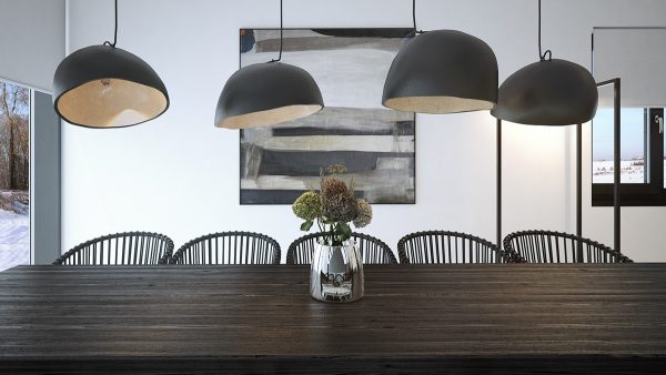 Designing Dining Room With Uneven Wall