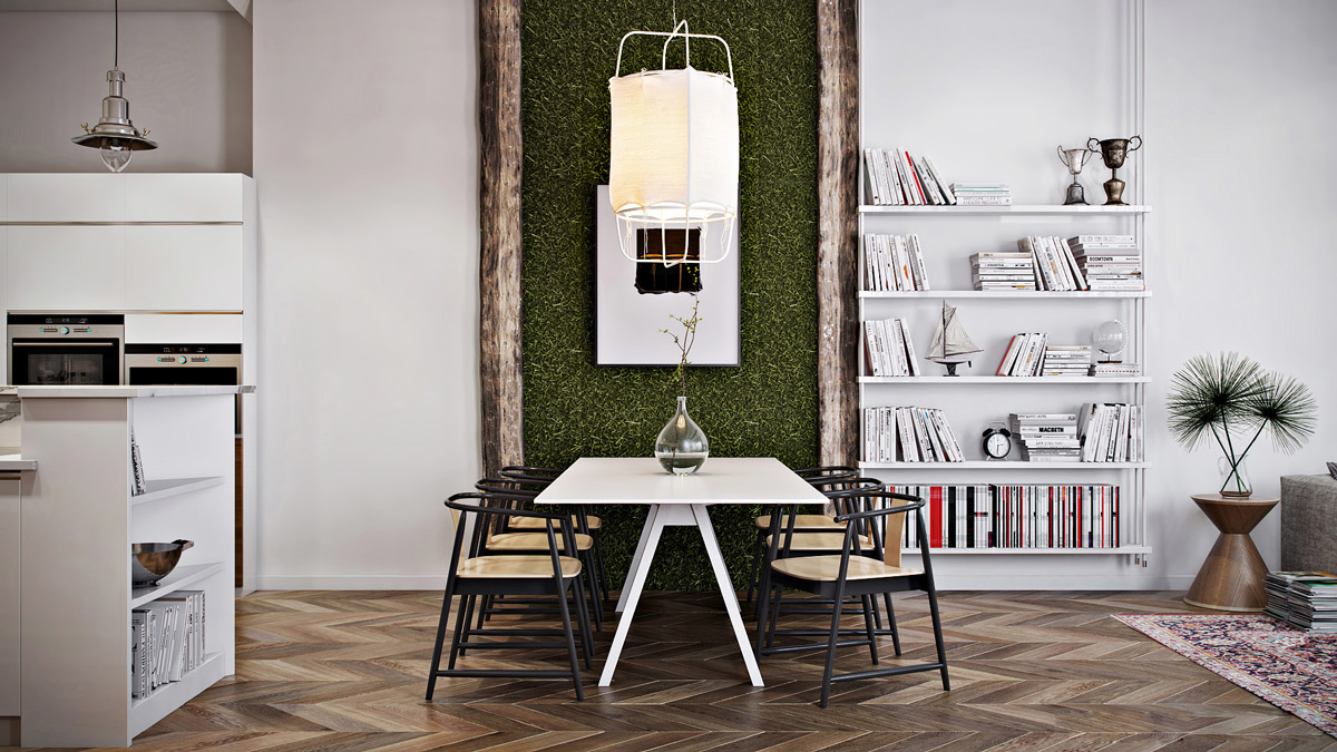 50 strikingly modern dining rooms that inspire you to for Wall designs for dining area