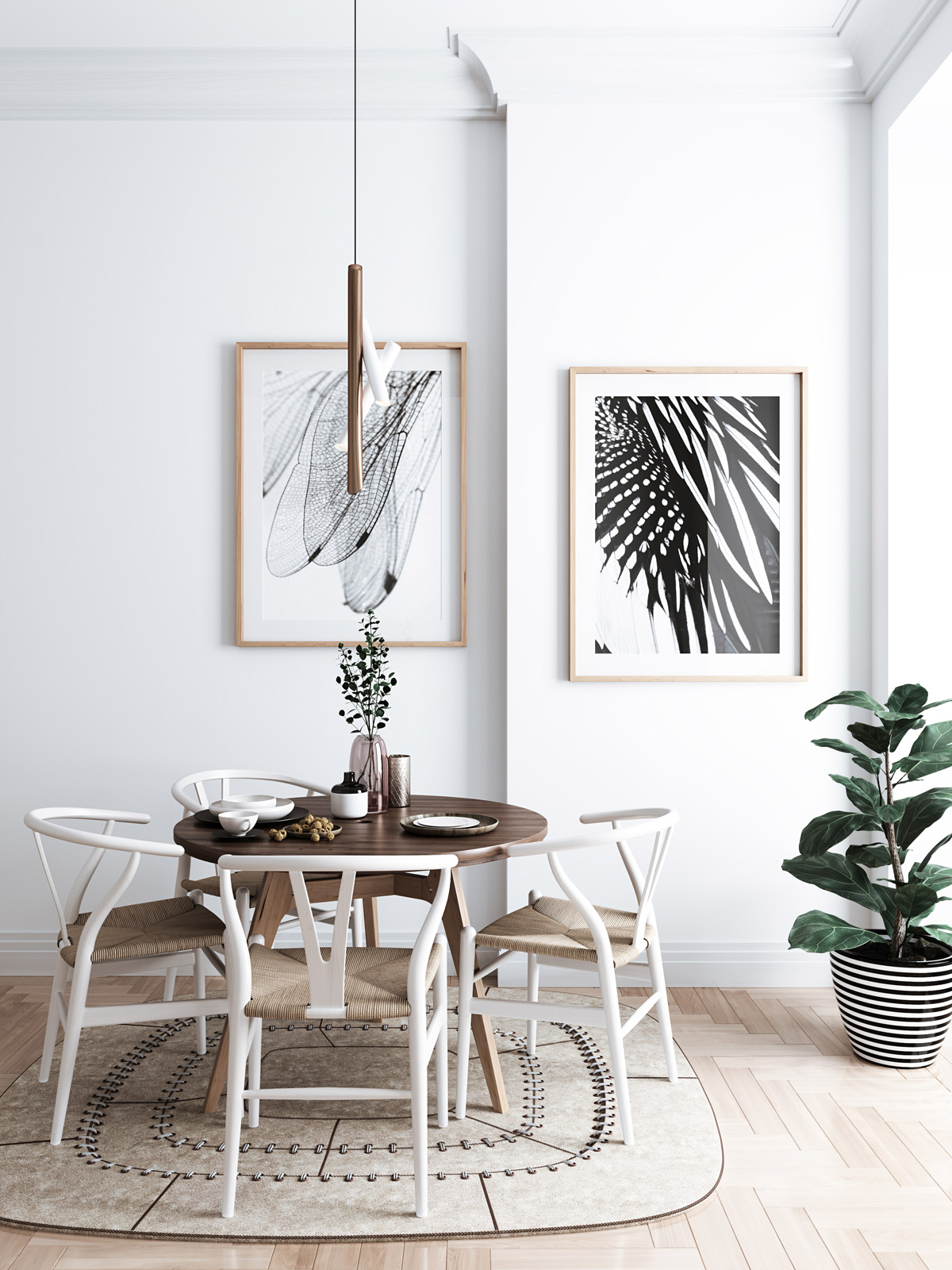 50 strikingly modern dining rooms that inspire you to Room visualizer furniture