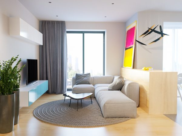 4 bright studio apartments with creative bedroom placement Room visualizer furniture
