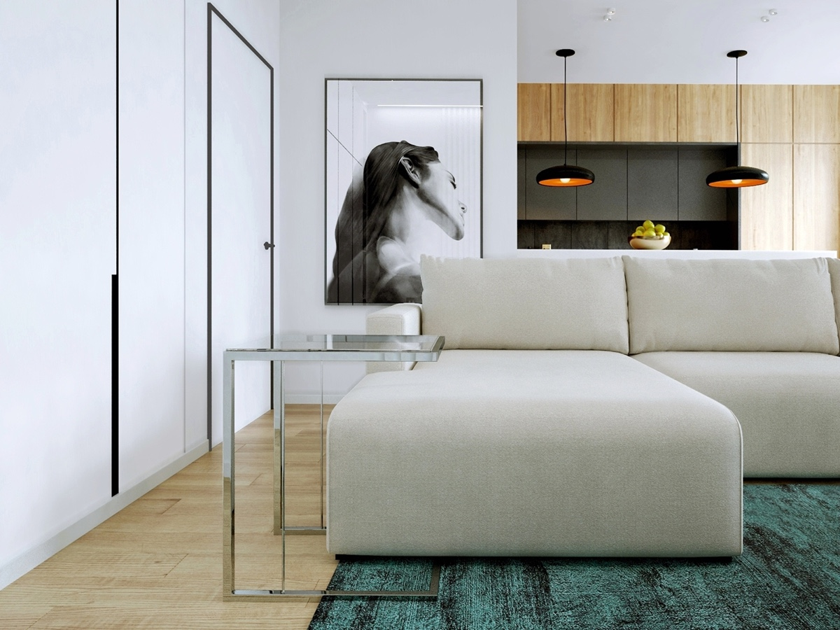 Relaxing Color Schemes In Efficient Single Bedroom Apartments
