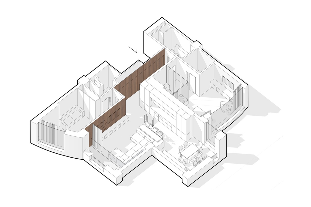 Single Bedroom Apartment With Media Room Floor Plan - A pair of stylish apartments that put their extra rooms to good use