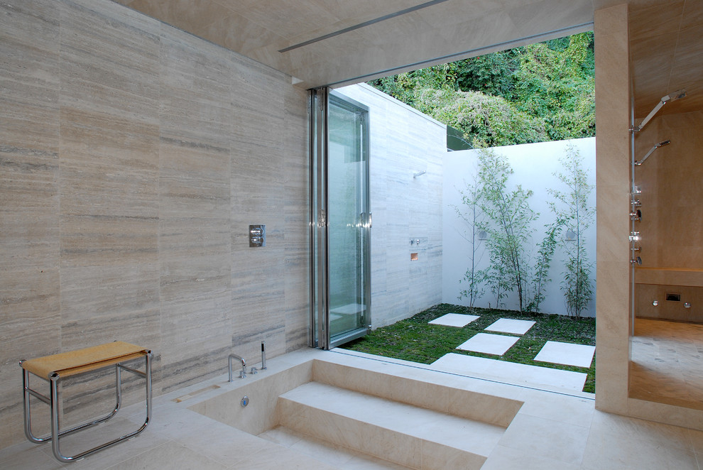 Stone Room Lawn Backyard Shower Ideas - 50 stunning outdoor shower spaces that take you to urban paradise
