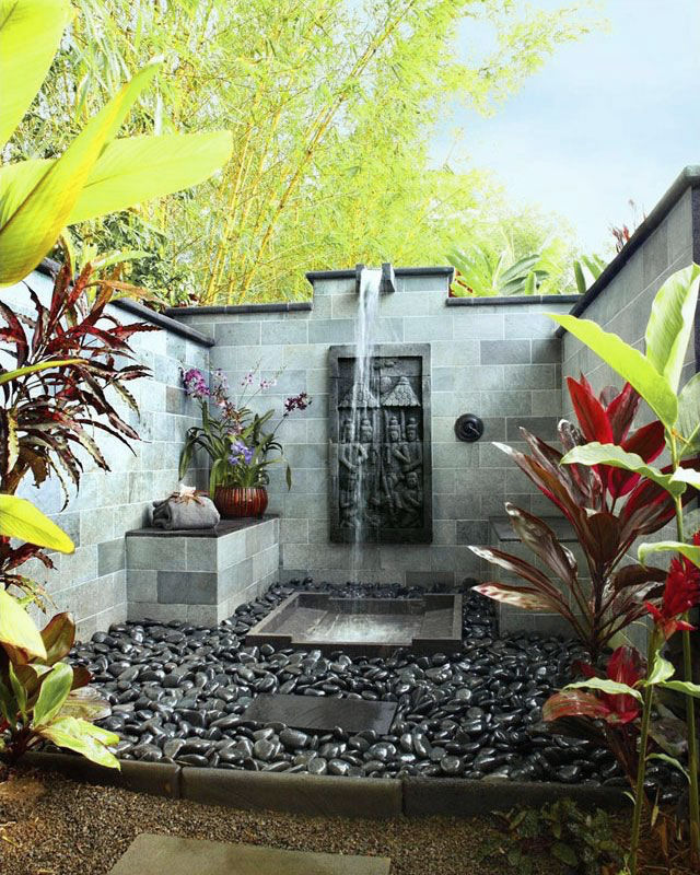 Stones And Concrete Garden Shower Design - 50 stunning outdoor shower spaces that take you to urban paradise