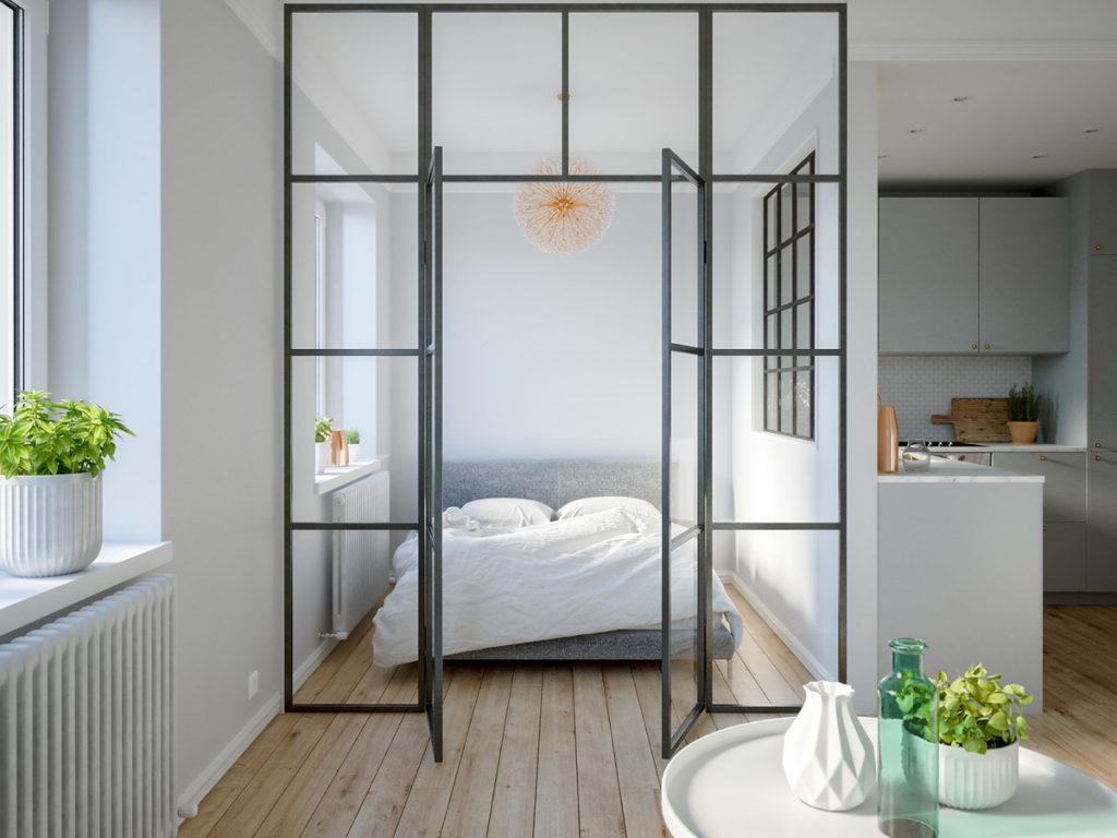 & 3 Modern Studio Apartments With Glass-Walled Bedrooms