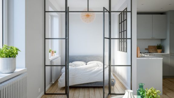 3 Modern Studio Apartments With Glass-Walled Bedrooms