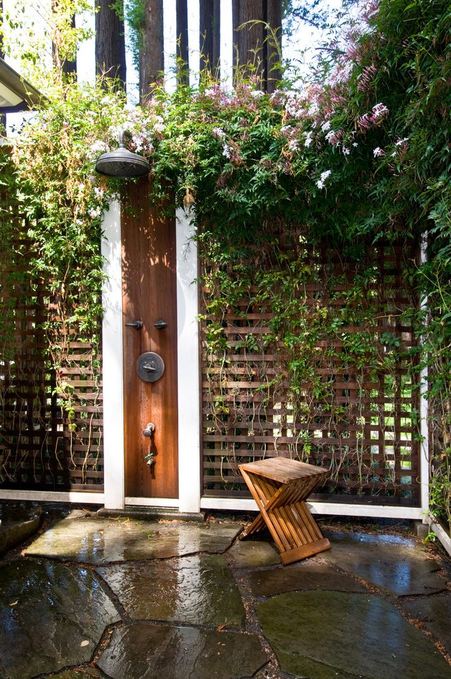 Terraces With Plants Outdoor Shower Enclosure Ideas - 50 stunning outdoor shower spaces that take you to urban paradise