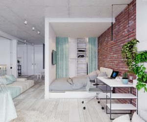 ... 4 Bright Studio Apartments With Creative Bedroom Placement