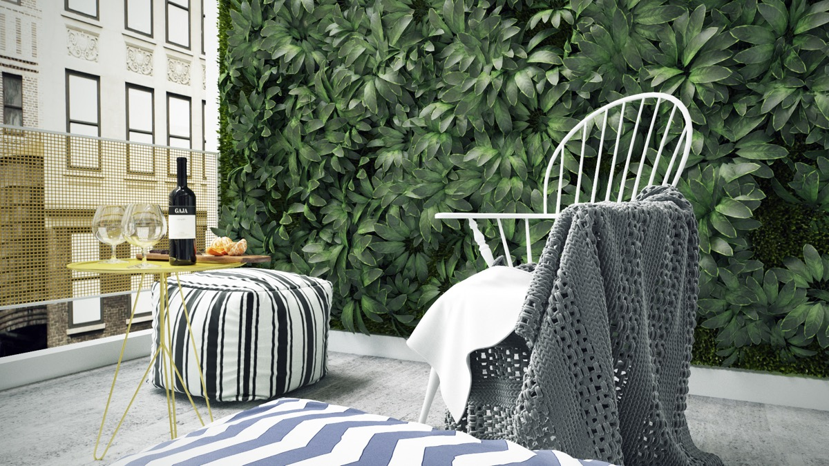 Apartment Balcony With Vertical Garden Atrium - 3 fabulous apartment designs with lofted bedrooms