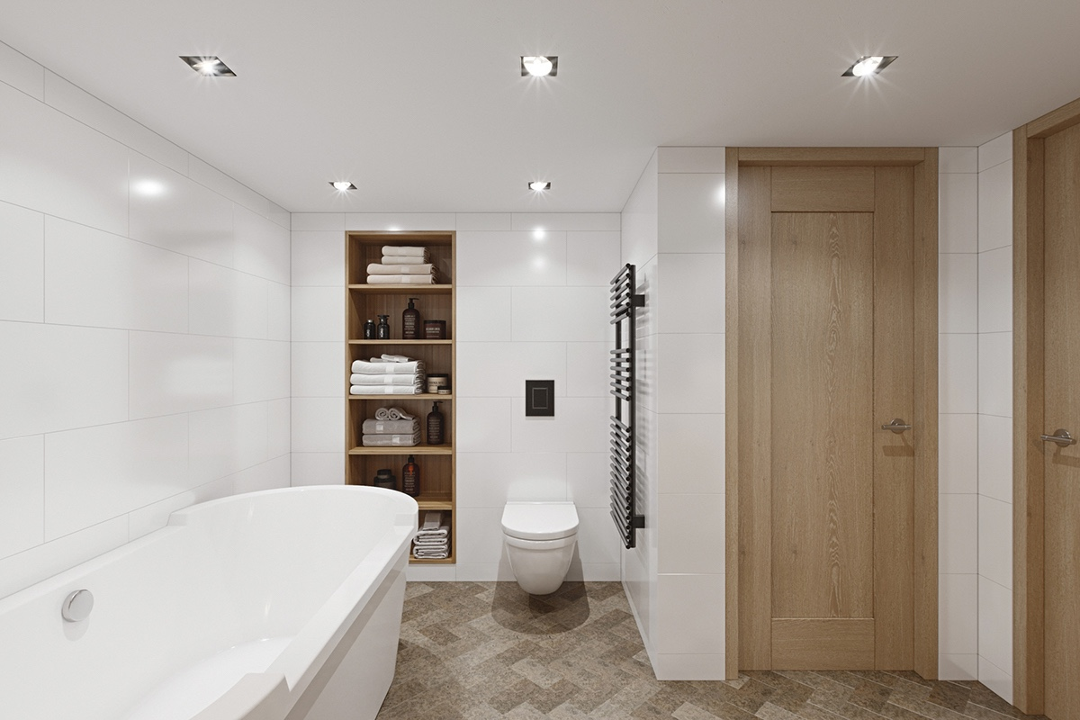 Apartment Bathroom With No Windows Inspiration - 3 fabulous apartment designs with lofted bedrooms
