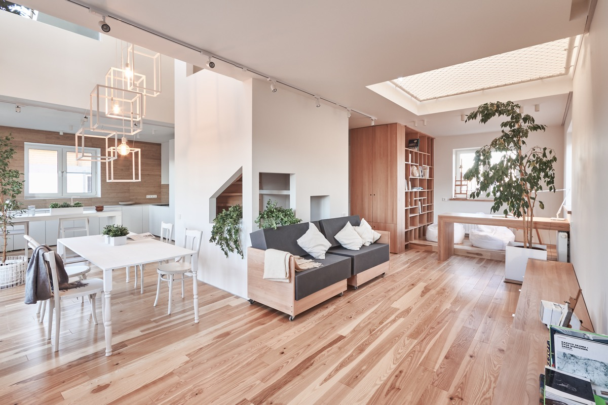 HOME DESIGNING A White And Wood House For Stylish