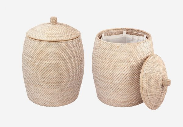 50 unique laundry bags baskets to fit any theme interior design ideas howldb - Wicker beehive basket ...