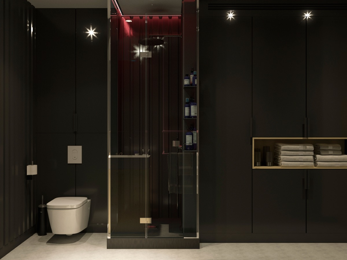 Black Bathroom - 4 studios that make beautiful use of natural light