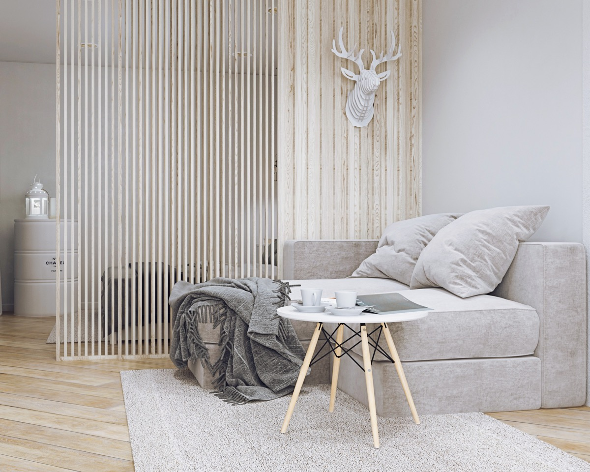 Charming Wood Scandinavian Apartment Decor - 5 studio apartments with inspiring modern decor themes