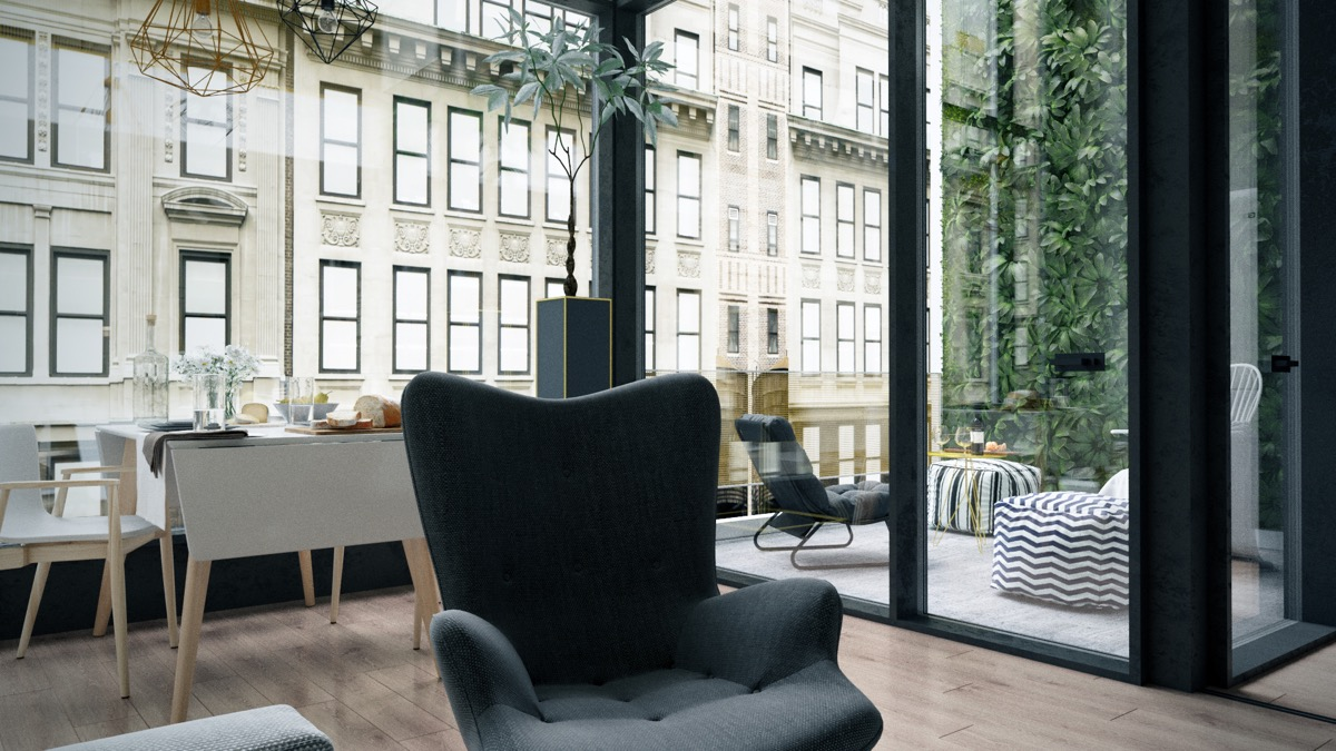 City Apartment With Glass Walls - 3 fabulous apartment designs with lofted bedrooms