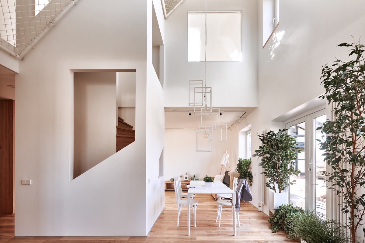 Clean White Walls - A white and wood house for a stylish family