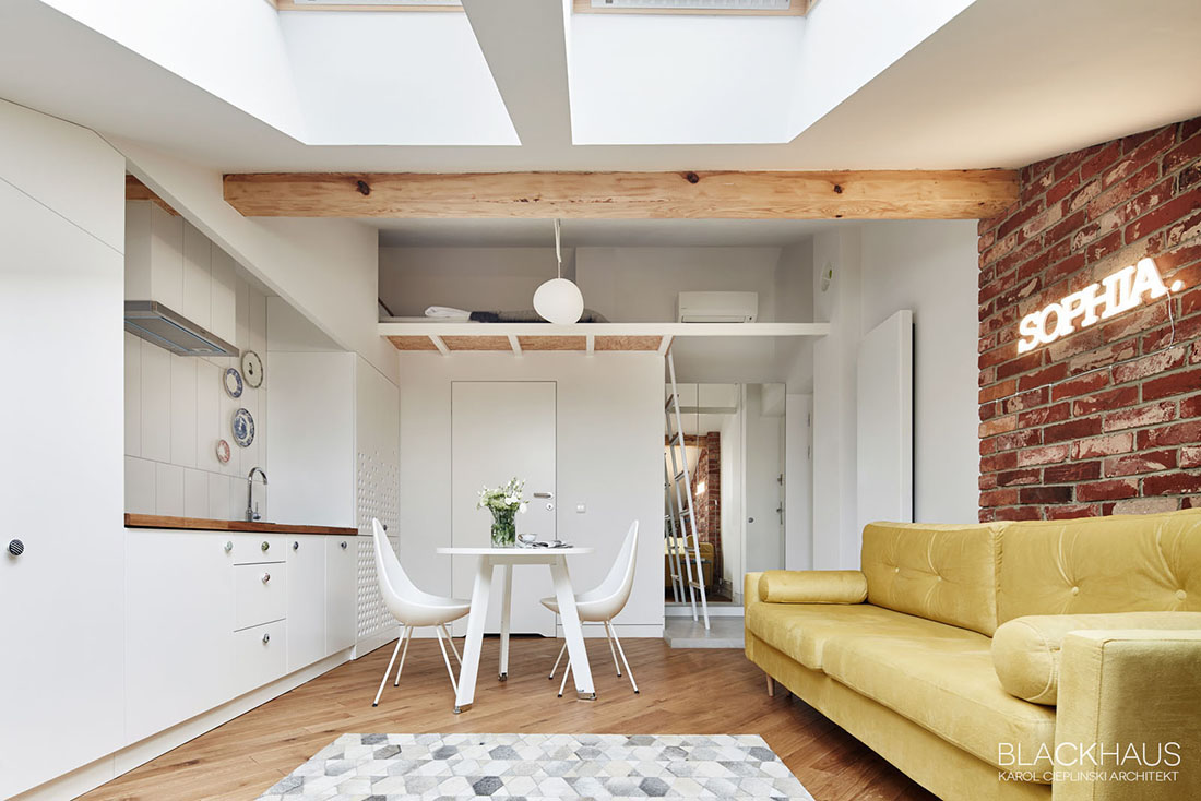 Compact Open Plan Apartment With Loft - 3 fabulous apartment designs with lofted bedrooms