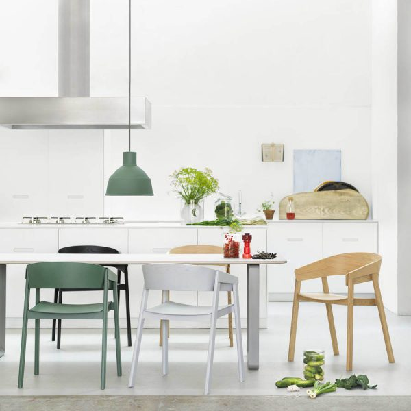50 modern dining chairs to set your table with style - Fabulous white leather dining chairs for modern contemporary appeal ...