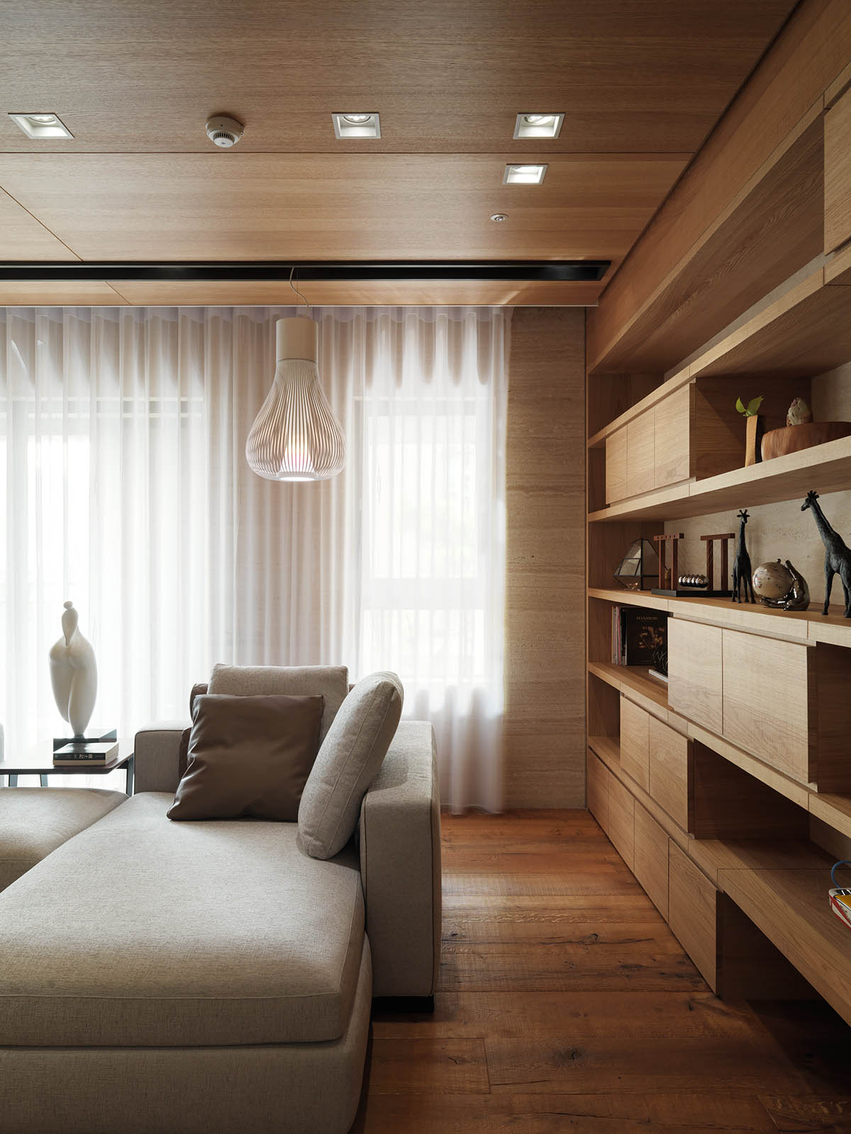 Cool Light Fixture - 4 homes with design focused on beautiful wood elements