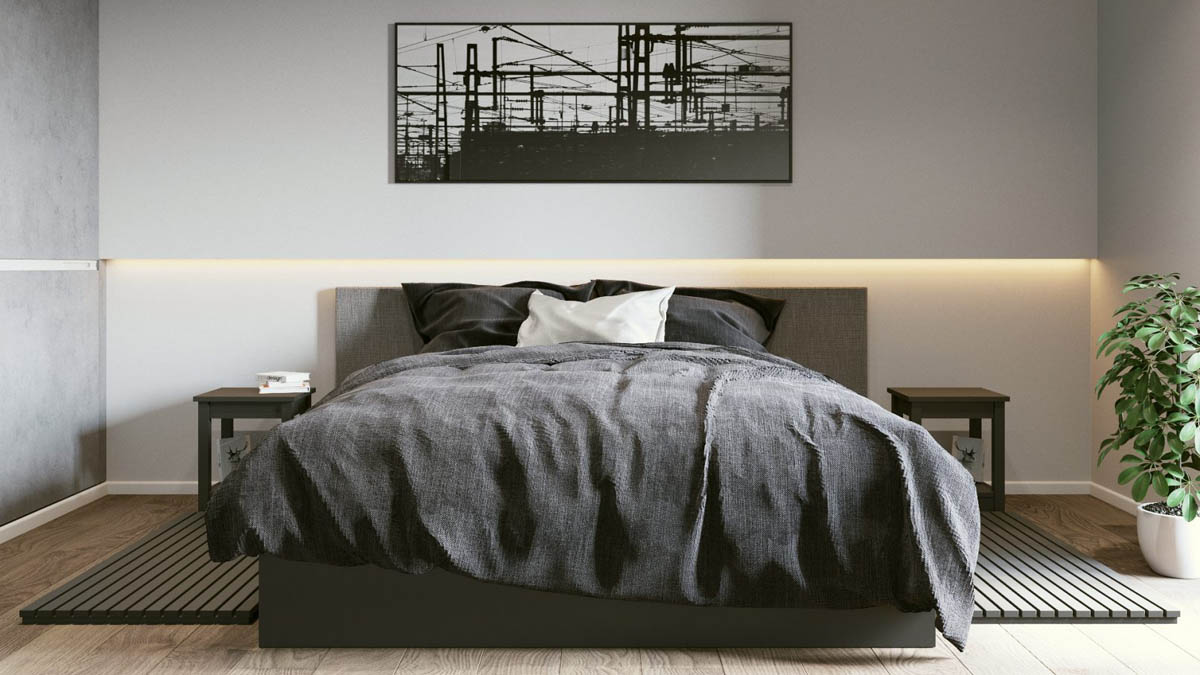 Creative Minimalist Bedroom Lighting - 3 one bedroom apartments under 750 square feet 70 square metres includes layouts