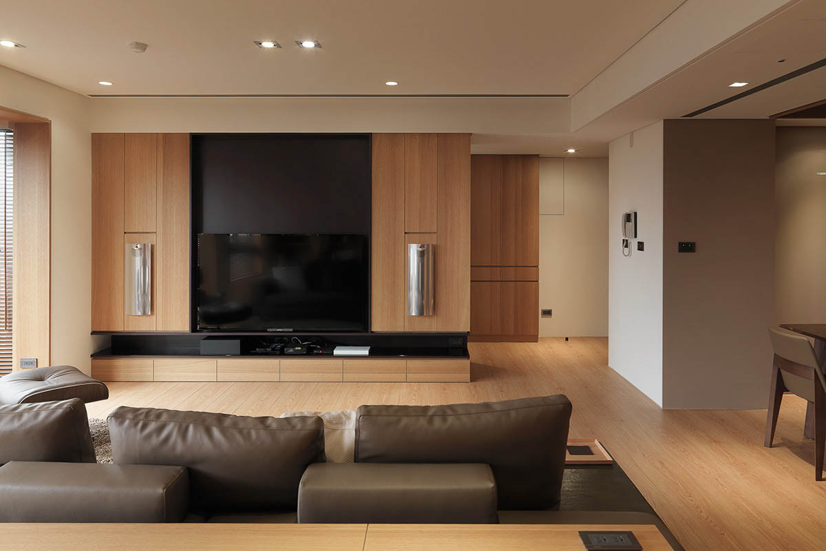 Custom Entertainment Center Design - 4 homes with design focused on beautiful wood elements