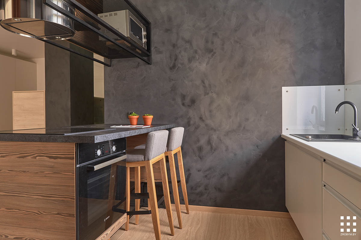 Studio apartments in three modern styles for Small kitchen table for studio apartment