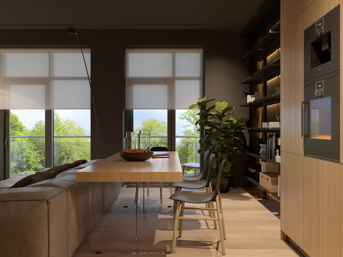 Indoor Plants - 4 homes with design focused on beautiful wood elements