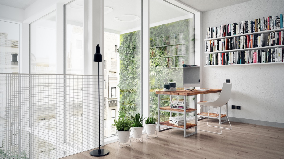 Inspiring Apartment Home Office - 3 fabulous apartment designs with lofted bedrooms