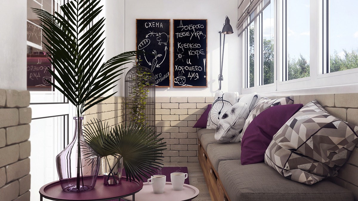Inspiring Purple Patio Decor - 3 one bedroom apartments under 750 square feet 70 square metres includes layouts