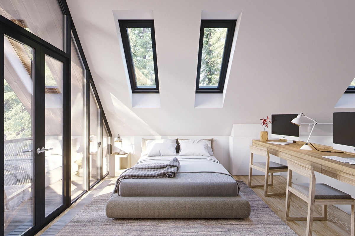Inspiring Small Apartment Loft With Gabled Ceiling - 3 fabulous apartment designs with lofted bedrooms