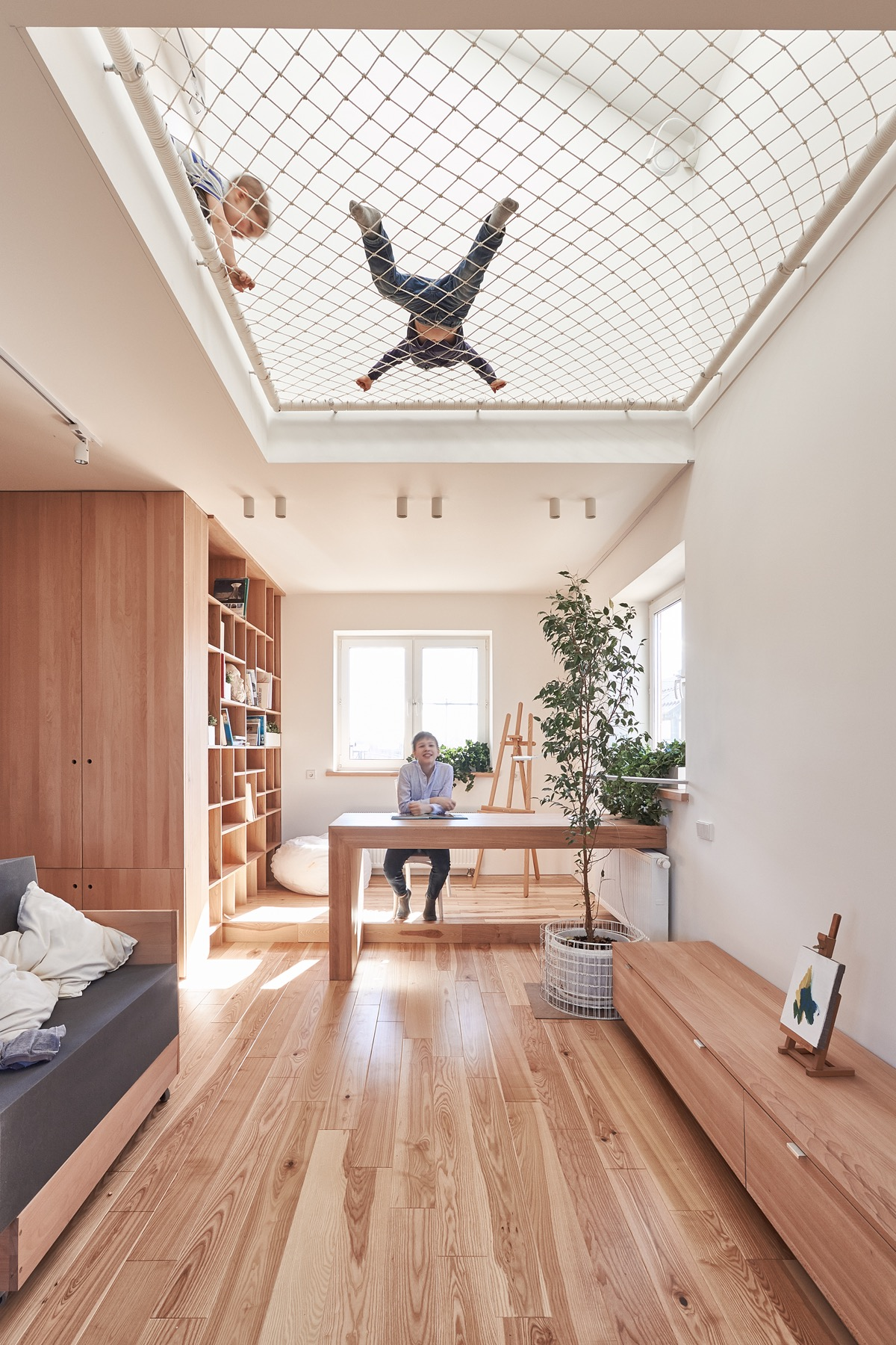 Kid Friendly Design - A white and wood house for a stylish family