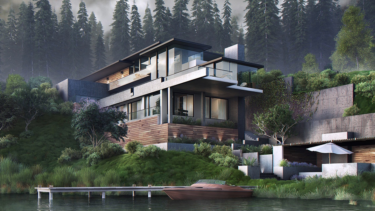 Front Elevation Steel Design : Stunning modern home exterior designs that have awesome