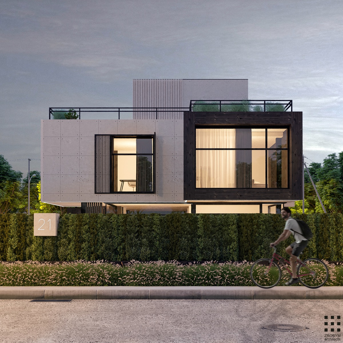 Fashion style House modern exterior design for girls