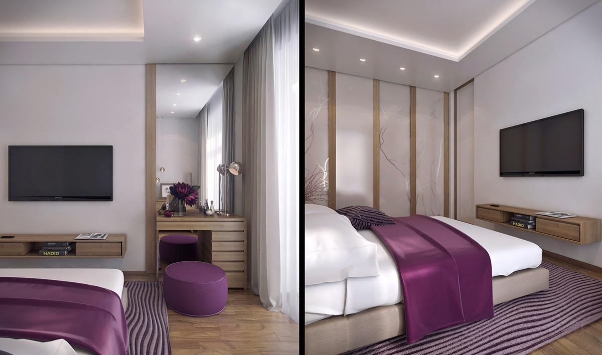 Lilac Purple Bedroom Decor - 3 one bedroom apartments under 750 square feet 70 square metres includes layouts