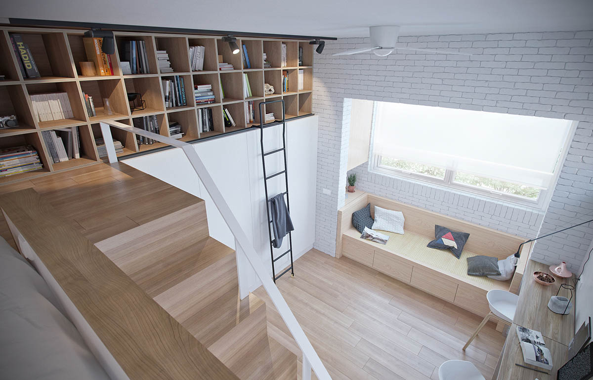 Lofted Bed - 4 studios that make beautiful use of natural light