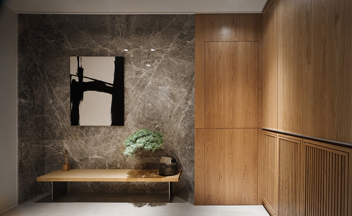 Marble Wood Wall - 4 homes with design focused on beautiful wood elements